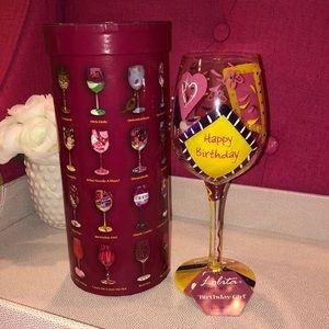 Lolita 'Birthday Girl' Wine Glass